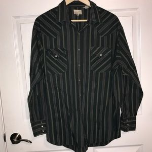 Vintage Express Riders western pearl snap sz XL